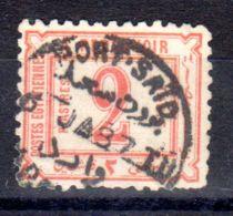1.8.1866, Timbre Taxe, YT No 9.; Sans Filigrane, Oblitération Port-Said, Lot 49844 - Service
