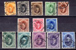 16.4.1923 / 19.3.1924 ; König Fuad I.; Mi-Nr. 82 - 93, Gest. Los 49839 - Egypt