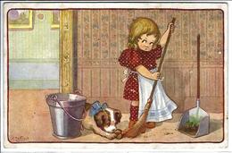 CPA Bertiglia écrite Enfants Illustrateur Italien Italie Italia - Bertiglia, A.