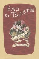 Etiquette Parfum Eau De Toilette Au Cyclamen Ambré F. Moreau & Fils Paris-Lyon - Format : 7,1 Cm X 11 Cm En B.Etat - Etiquettes