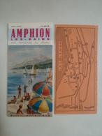 AMPHION-LES-BAINS. RIVE FRANÇAISE DU LÉMAN. HAUTE-SAVOIE - FRANCE, 1969 APROX. - Dépliants Touristiques