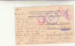 Russia To Austria Bohemia, Post Card In Franchigia 1915 ( Posta A Prigioniero Di Guerra??) - 1857-1916 Empire