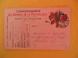 France Carte En Franchise Militaire 1915 Guillemprey Pierre Pour Troyes Secteur Postal Chalons - Cartes De Franchise Militaire