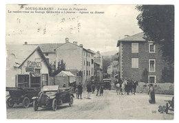 Cpa Bourg-Madame, Avenue De Puigcerda, ...Garage Gineste - Agence En Douane ( écrite De Nimes Vers Beaucaire) (état ) - France