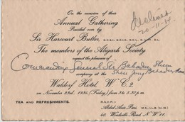 ALIGARH SOCIETY MUSLIM EDUCATION LONDON SIR HARCOURT BUTLER BURMA NEPAL - Tickets - Vouchers