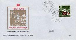 13 Dec 1963 Eerste Dag  150 Jaar Koninkrijk W5 - FDC