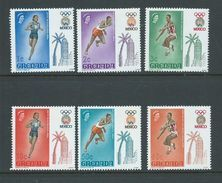 Grenada 1968 Mexico Olympic Games Set Of 6 MNH - Grenada (...-1974)