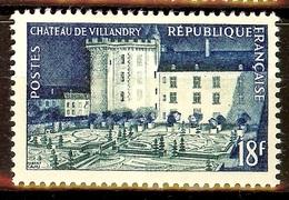 SUPERBE Château De VILLANDRY YT N°995 NEUF AVEC GOMME* Cote 3,50 Euro - France