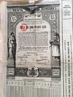 Renta Romana 4%  Tiliu De 1000 Franci Aur 1929 - Shareholdings