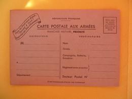 """France Carte Carte Postal Aux Armées """" Ceux Du Front Vous Disent : Pensez à Nous  ! Souscrivez Aux Bons D'Armement ! """" - Cartes De Franchise Militaire"""