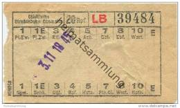 Chemnitz - Städtische Strassenbahn Chemnitz - Fahrschein 20Rpf. - Europe