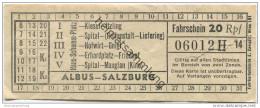 Albus Salzburg - Fahrschein 20Rpf. - Europe