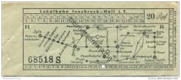 Lokalbahn Innsbruck-Hall I. T. - Fahrschein 20Rpf. - Europe