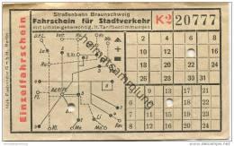 Strassenbahn Braunschweig - Fahrschein Für Stadtverkehr - Einzelfahrschein - Europe