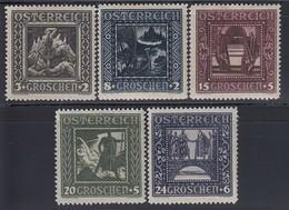 ÖSTERREICH 1926 - MiNr: 488-493A - 5 Werte   Feinst **  / MNH - Ungebraucht