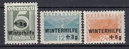ÖSTERREICH 1933 - MiNr: 563-566 - 3 Werte   Feinst **  / MNH - Ungebraucht