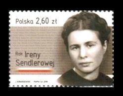 Poland 2018 Mih. 4980 World War II. Social Worker And Humanitarian Irena Sendler MNH ** - Neufs