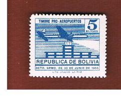 BOLIVIA   -  SG 618   -  1955  AIRPORT, AIRPLANE    -  MINT** - Bolivia