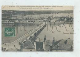 Decize (58) : Vue Panoramique Sur Le Faubourg Saint-Privé Lors Des Inondations En 1910 PF. - Decize