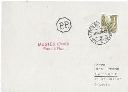 """121 - 54 - Carte Avec Rare Oblit Spéciale """"Muster (Disentis) Fiasta S. Placi 1939"""" - Marcofilie"""