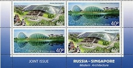 Russia - Singapore.2018.Modern Architecture.Joint Issues.Tet- Beshe  ** . - 1992-.... Federatie