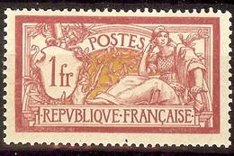 SUPERBE MERSON YT N°121 1F Lie De Vin & Olive NEUF Avec GOMME* + BON CENTRAGE Cote 31 Euro - 1900-27 Merson