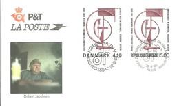 FDC 1988 DANEMARK  -- FRANCIA - Emisiones Comunes