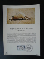 Feuillet FDC (16x22 Cm) N° 152 Tatou Armadillo Guyane - Reptiles & Batraciens