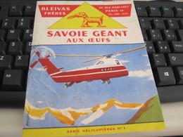 BUVARD RAFFIGURANTE UN ELICOTTERO -SAVOIE GEANT - Blotters