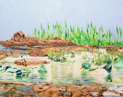 Alcantara #1, Oil On Canvas 56x71 Cm, Year 2007 - M. Pianese - Oils