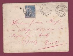 NOUVELLE CALEDONIE  -  250618 -  Lettre  Affranchie à 15 Cts Oblitéré CORRESPONDANCE  D'ARMEE Nouméa + Paquebot 1889 - Briefe U. Dokumente