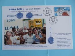 Document (13x21cm) Tennis Bjorn Borg Tournoi International Réunion 1984 - Tennis