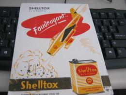 BUVARD PUBBLICITARIA SHELL SHELLTOX - Gas, Garage, Oil