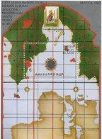 TIMBRES - STAMPS -SELLOS - FRANCOBOLLI - BRITISH VIRGIN ISLANDS - BLOC AVEC TIMBRE NEUF DE CARTE DE JUAN DE LA COSA- MNH - Iles Vièrges Britanniques