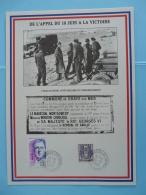 Feuillet Encart (16x22 Cm) Appel Du 18 Juin Débarquement D-Day Courseulles Sur Mer 14 Calvados 1994 - 2. Weltkrieg