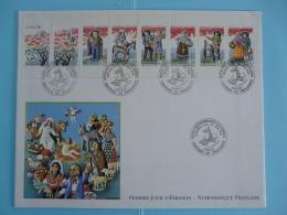 FDC Ed. Numismatique Carnet Santons De Provence 1995 - 1990-1999