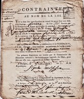 Year 7 Of French Republic 'constraint'.  Ref 0545 - Autographs