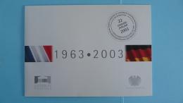 Encart FDC Folder Traité Fanco Allemand Joint Issue 2003 - Emisiones Comunes