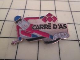 710e Pin's Pins / Rare & Belle Qualité / THEME SPORTS / SPORTS D'HIVER SKI SLALOM CARRE D'AS - Winter Sports