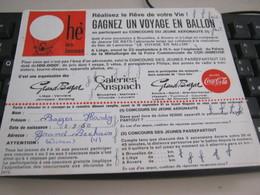 BUVARD PUBBLICITARIA GAGNEZ UN VOYAGE EN BALLON - Transport