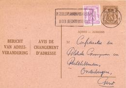 Briefkaart Carte Postale - Adreswijziging Gent 1954 - Addr. Chang.