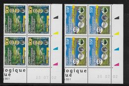 Polynésie N°674/675 - Blocs De 4 Coins Datés - Neuf ** Sans Charnière - Superbe - French Polynesia