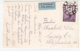 Yugoslavia Slovenia 1938 Air Mail Travelled Bled Postcard (foto Kunc) Bb180612 - Slovenia