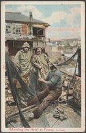 Mending The Nets At Fowey, Cornwall, 1905 - Peacock Postcard - England