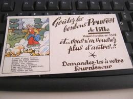 BUVARD PUBBLICITARIA BONBONS PRUVOST DE LILLE - Süssigkeiten & Kuchen