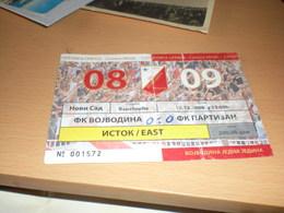 Football Vojvodina Partizan - Biglietti Della Lotteria