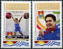 Kiribati. 2014. XX Commonwealth Games, Glasgow (MNH OG **) Set Of 2 Stamps - Kiribati (1979-...)