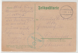 Germany WWII Feldpostkarte Travelled 1941 FP 24971 To Fürstenfeld Bb180612 - Cartas