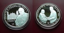 2 X 10 PESOS 1997/8 - John Paul II In Havana + Fidel Castro In Vatican / Silver - Cuba