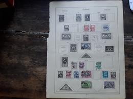 ESTONIE / Estland / Eesti Post, 1920-  1922, Collection De Timbres O Sur Page Album, Tb Cote 22 E - Estonia